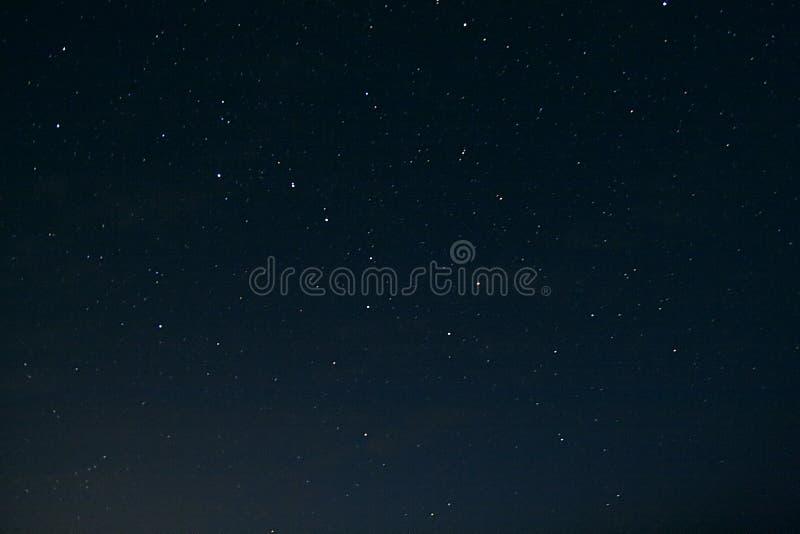 Cielo notturno con il grande orso fotografia stock