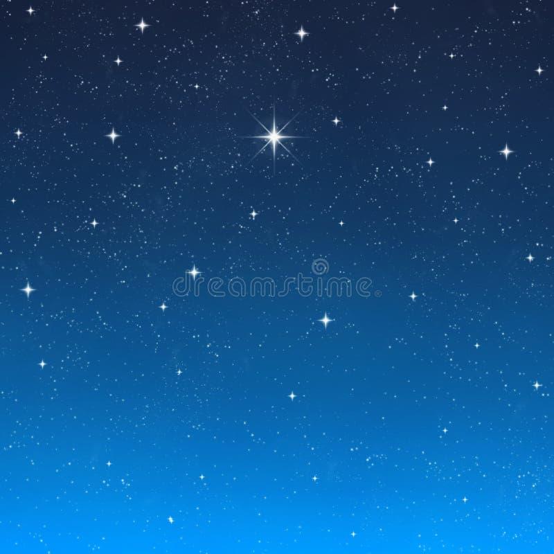 Cielo notturno di desiderio luminoso della stella   royalty illustrazione gratis