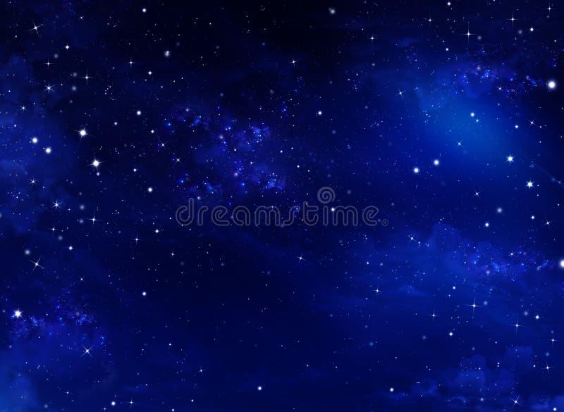 Cielo notturno stellato illustrazione di stock