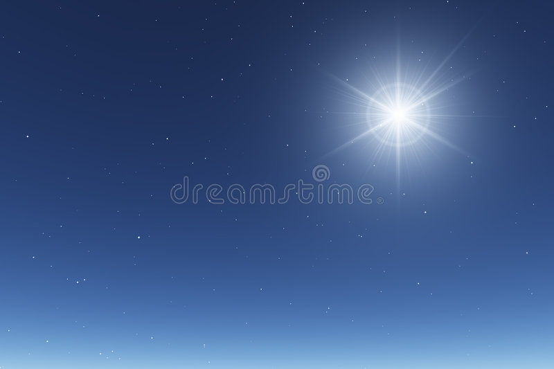 Cielo notturno stellato di base illustrazione vettoriale