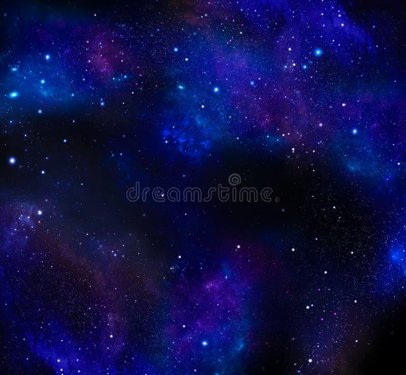 Cielo notturno, Via Lattea, fondo della galassia fotografia stock