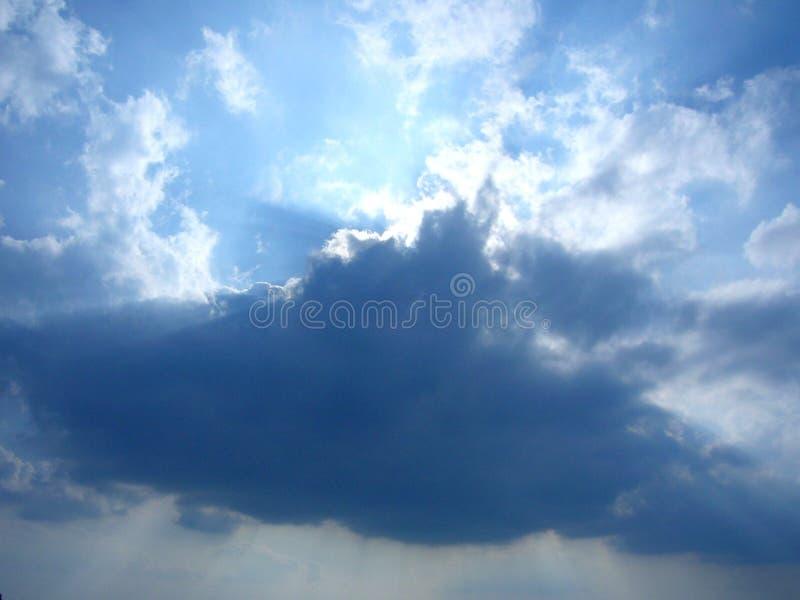Cielo nublado imagen de archivo libre de regalías