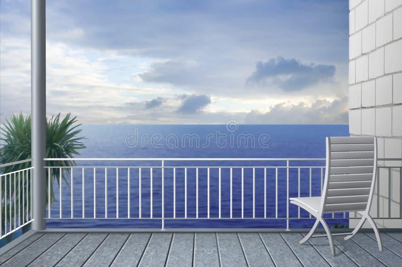 Cielo nublado de la tarde stock de ilustración