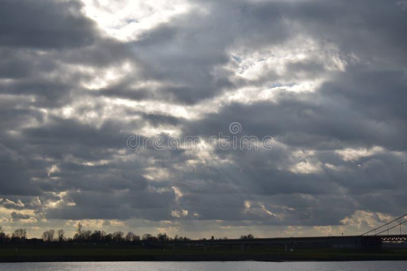 Cielo nublado en Alemania 3 fotos de archivo