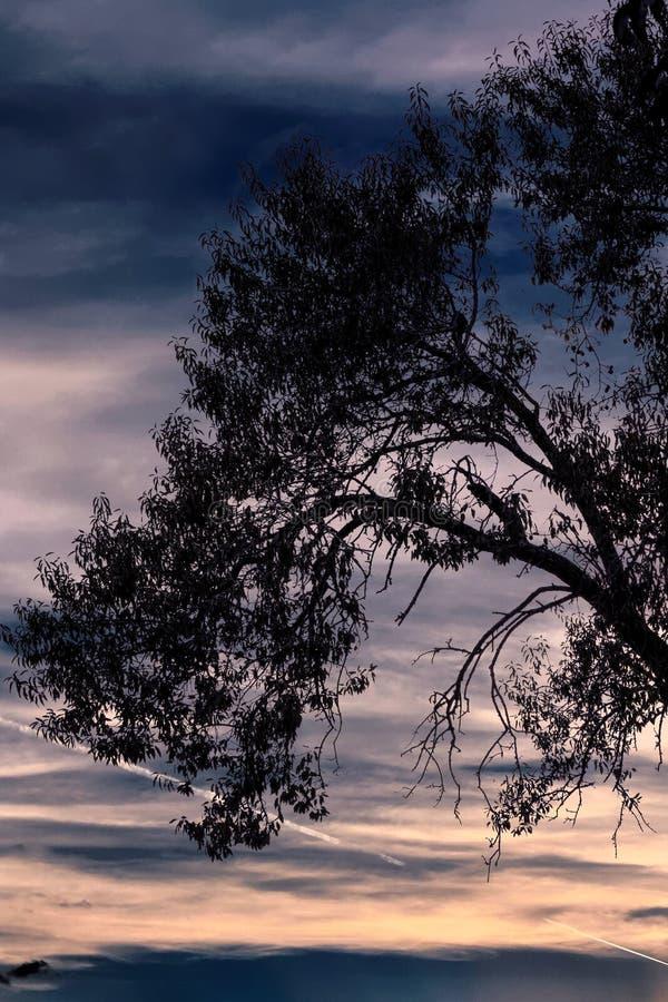 Cielo nublado en el montañoso imagenes de archivo