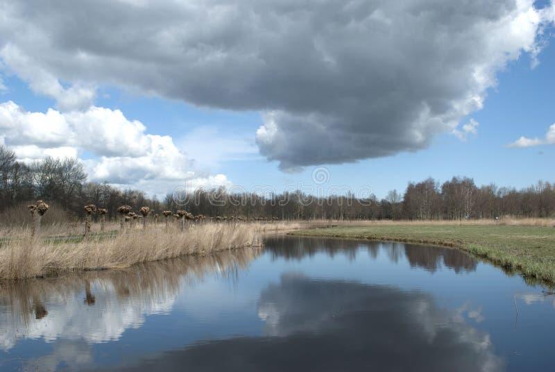 Cielo nublado y azul fotografía de archivo libre de regalías