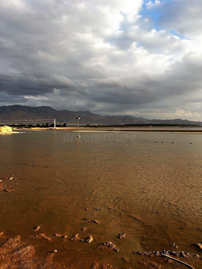 Cielo nuvoloso in Eilat fotografia stock libera da diritti