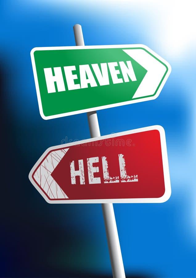 Cielo o infierno stock de ilustración
