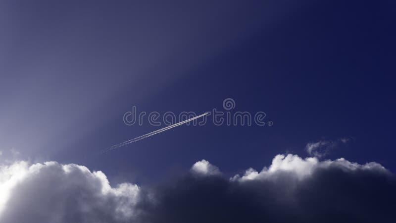 Cielo otoñal en Inglaterra del oeste del sur imagen de archivo