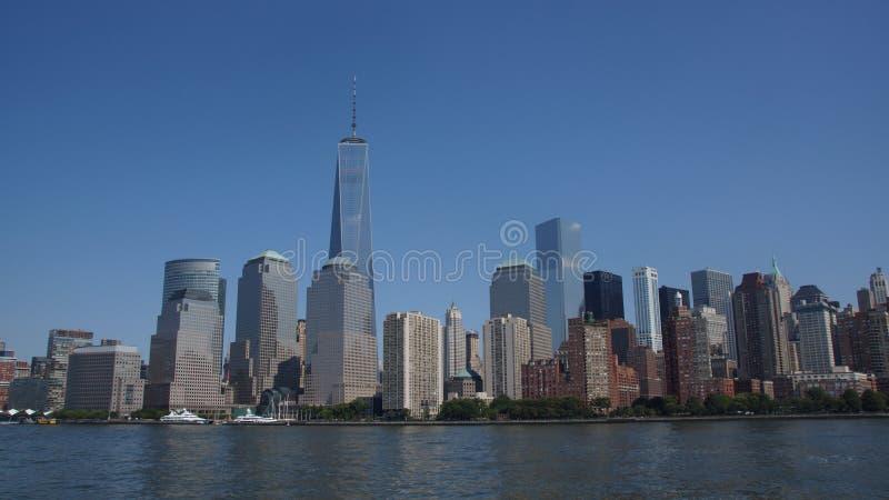 CIELO PERFETTO DELL'IMMAGINE DELL'ORIZZONTE DI NEW YORK fotografia stock libera da diritti