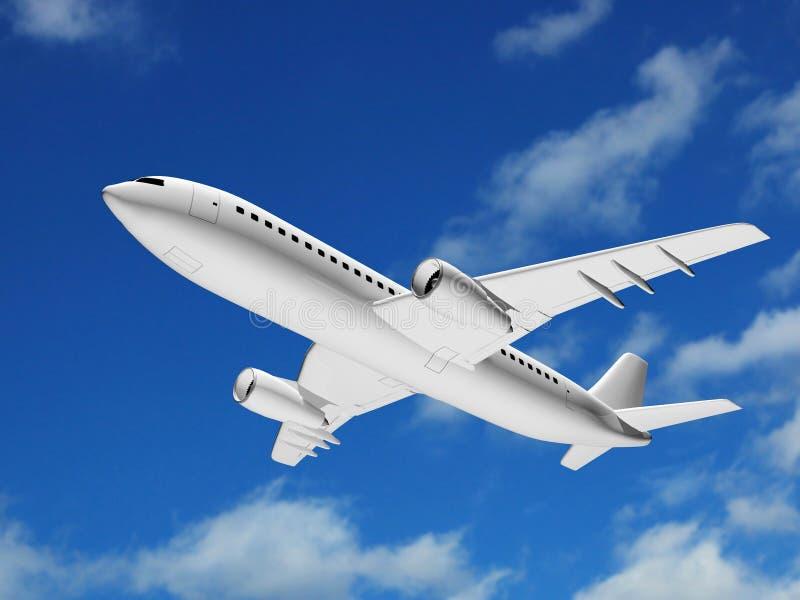 Cielo plano 3D del vuelo ilustración del vector