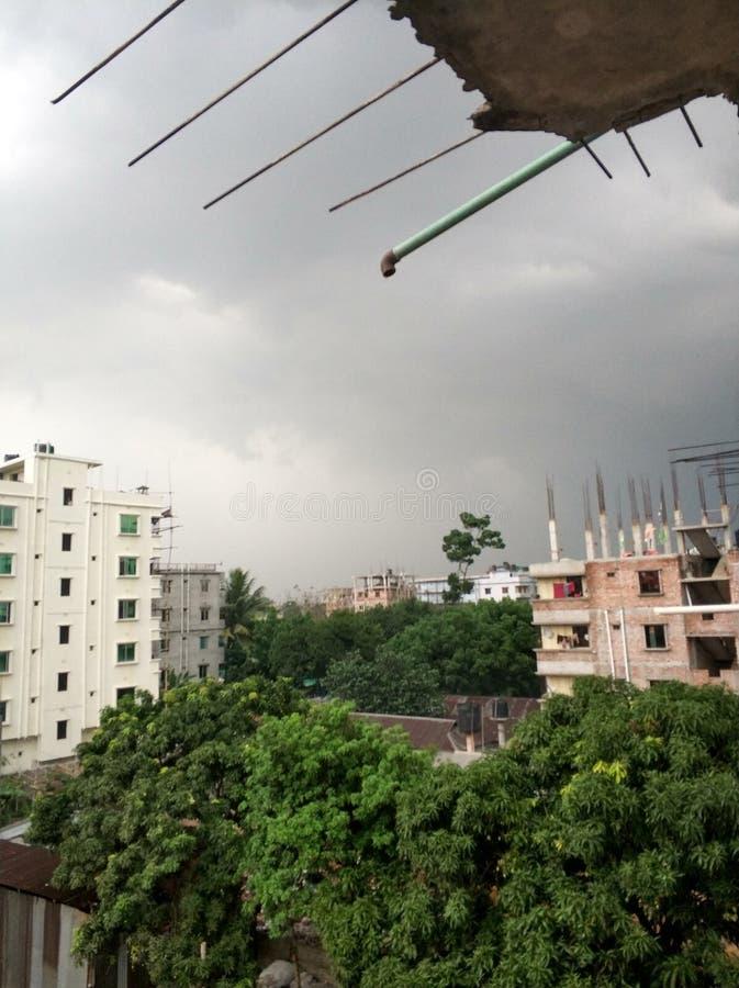 cielo prima di pioggia fotografia stock