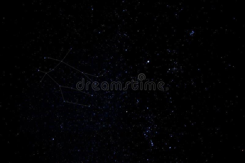 Cielo reale dei Gemini fotografia stock libera da diritti