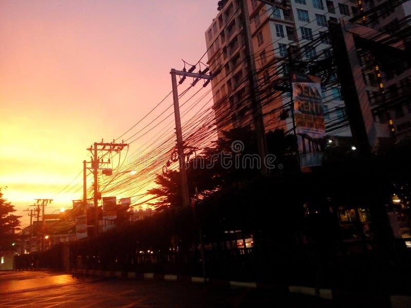 Cielo rojo de mi Tailandia imagen de archivo libre de regalías