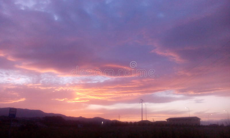 Cielo rosado foto de archivo libre de regalías