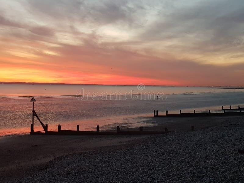 cielo rosso a piacere del marinaio di notte? fotografia stock