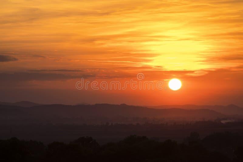 Cielo Scape de la puesta del sol imágenes de archivo libres de regalías