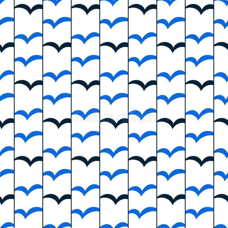 Cielo senza cuciture astratto geometrico degli uccelli del modello Motivo lineare royalty illustrazione gratis