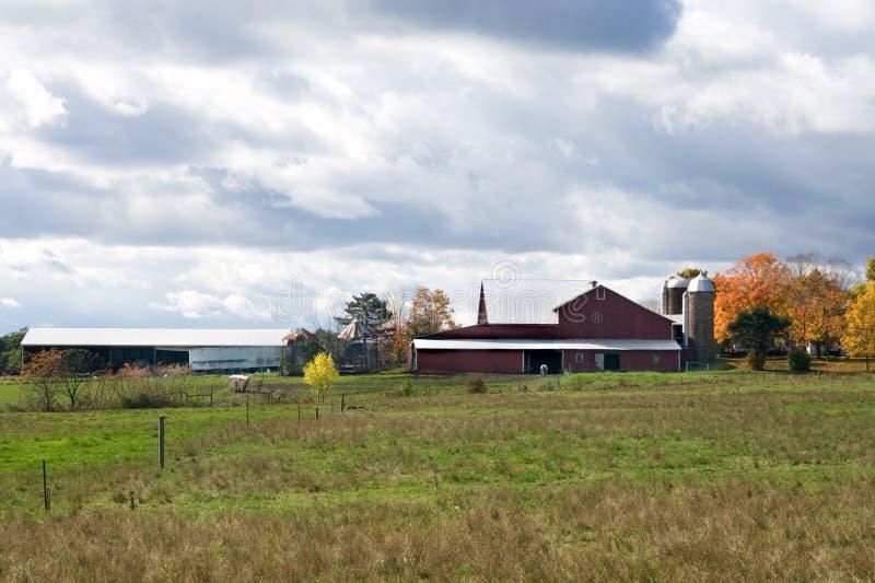 Cielo sobre granja. imágenes de archivo libres de regalías