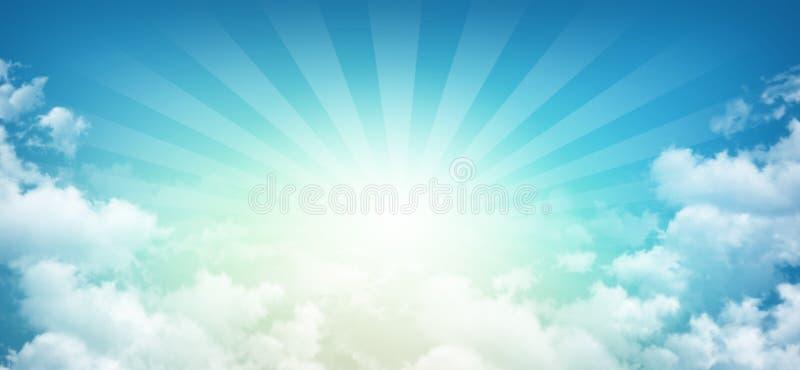 Cielo soleggiato celeste fotografie stock libere da diritti