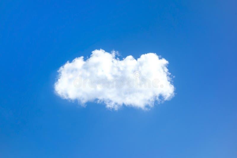 Cielo solo della radura della nuvola fotografie stock