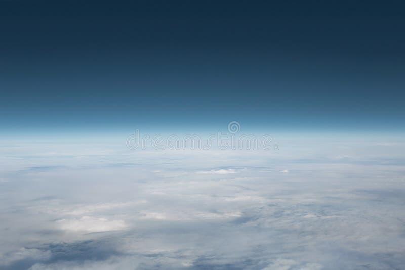 Cielo sopra le nubi fotografie stock