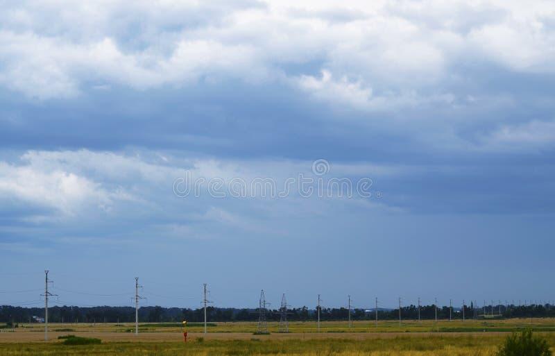 Cielo sopra Temryuk fotografia stock libera da diritti