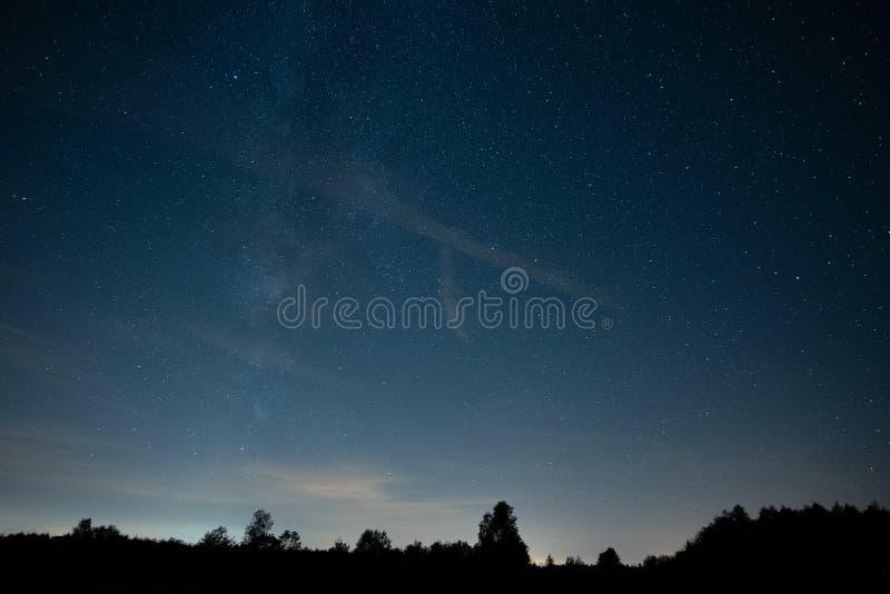 Cielo stellato con le stelle, buio immagine stock libera da diritti