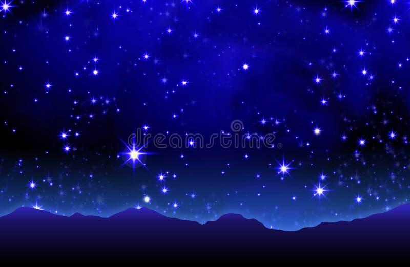 Cielo stellato estivo illustrazione di stock