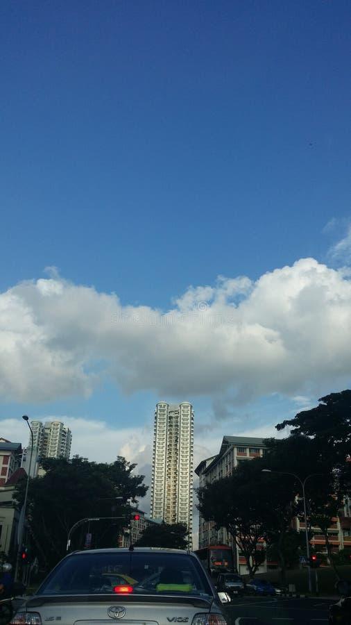 Cielo tan arriba foto de archivo