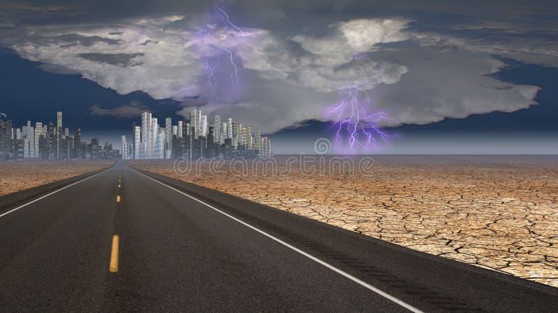 Cielo tempestuoso ilustración del vector