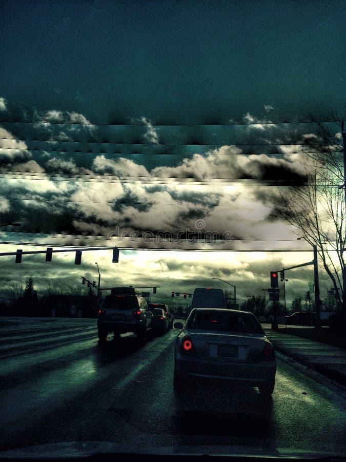 Cielo tempestuoso fotografía de archivo