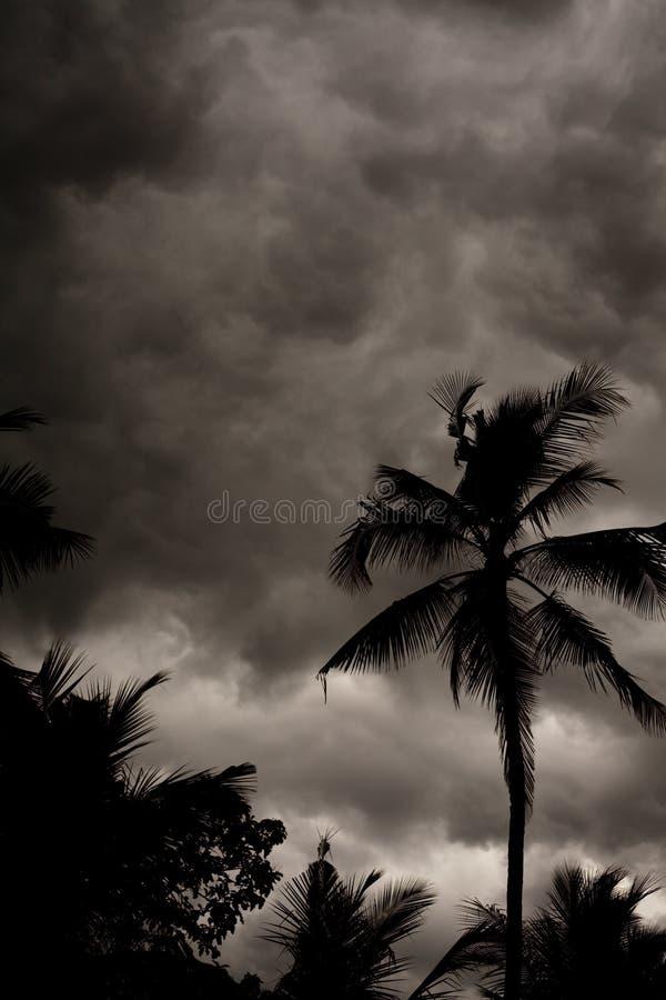 Cielo tempestuoso de la monzón tropical imágenes de archivo libres de regalías