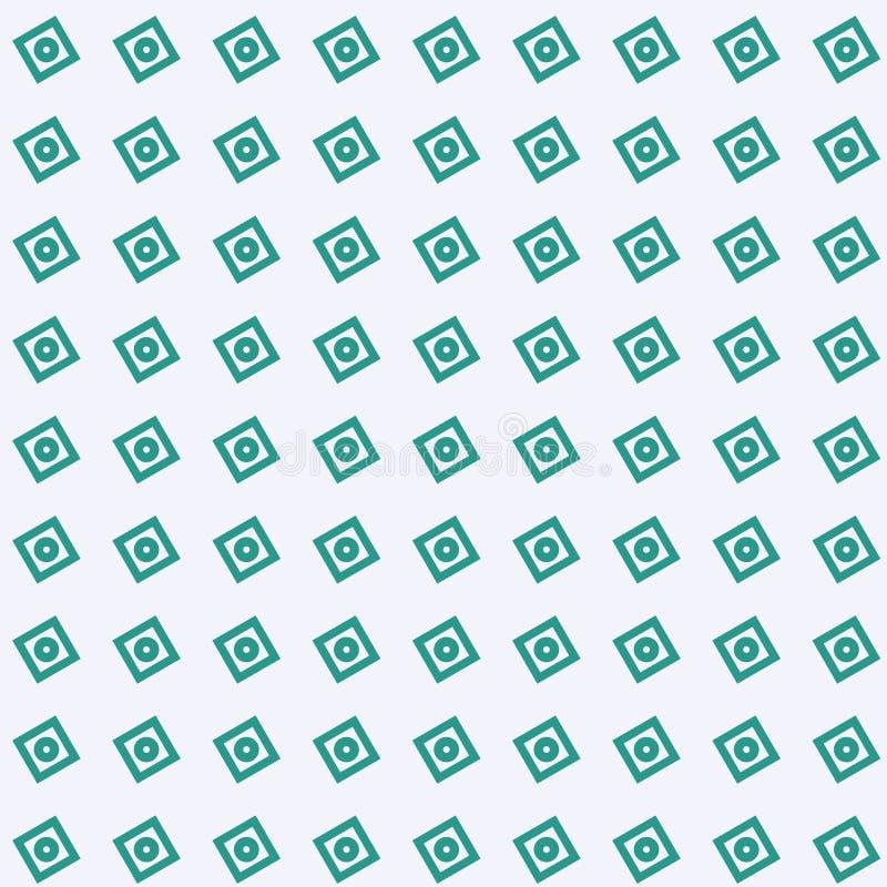 Cielo verde claro del fondo abstracto con las texturas geométricas verdes del cuadrado y del círculo inconsútiles stock de ilustración