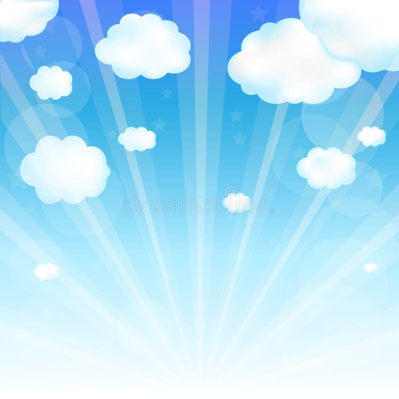 Cielo y nube stock de ilustración
