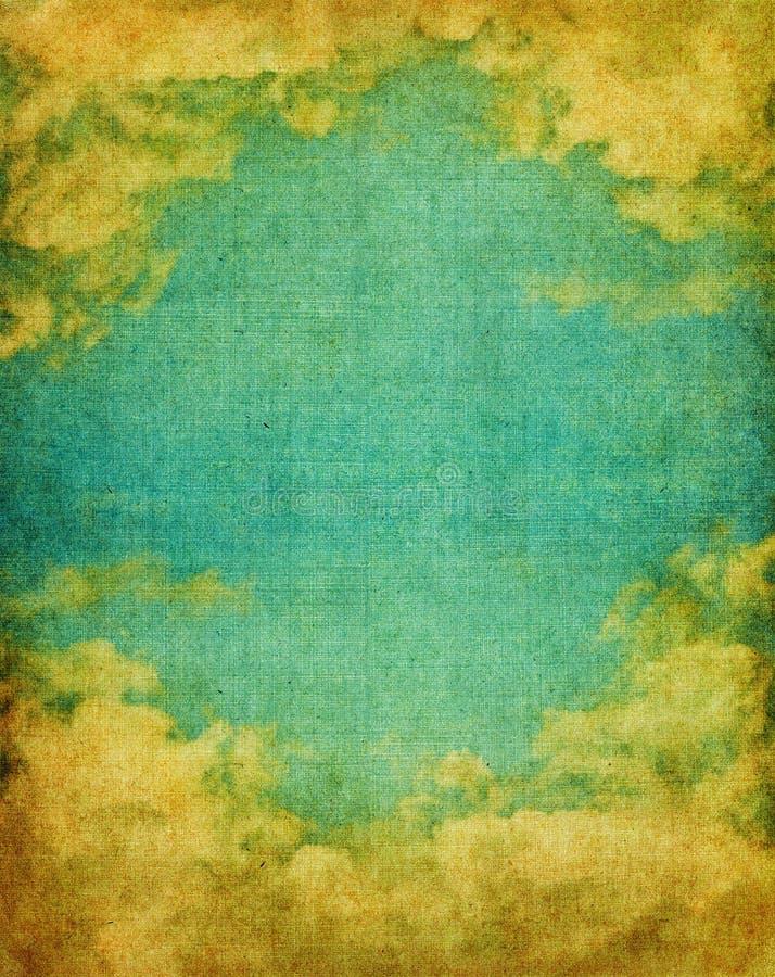 Cielo y nubes de la vendimia fotos de archivo libres de regalías