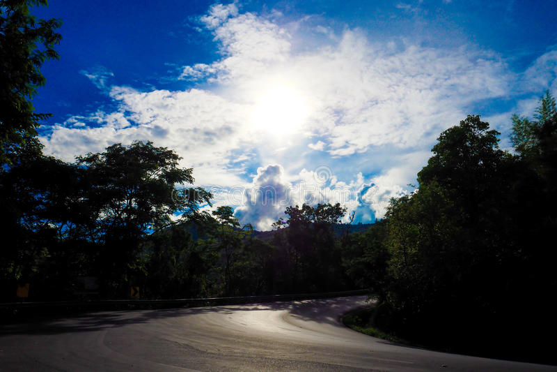 Cielo y puesta del sol foto de archivo libre de regalías