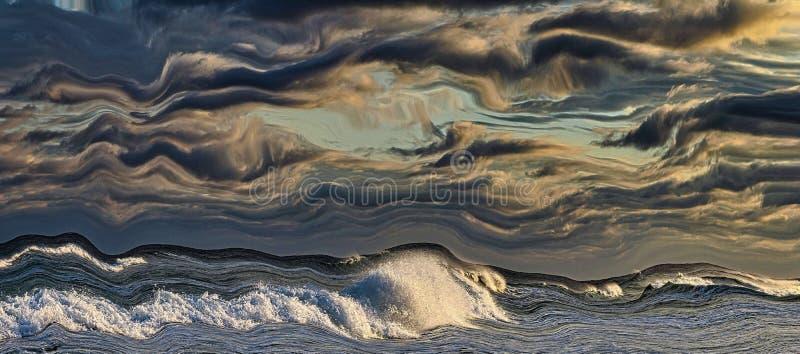 Cielo y resaca surrealistas imágenes de archivo libres de regalías