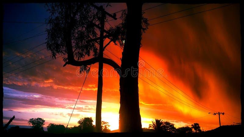 Cielos anaranjados foto de archivo libre de regalías
