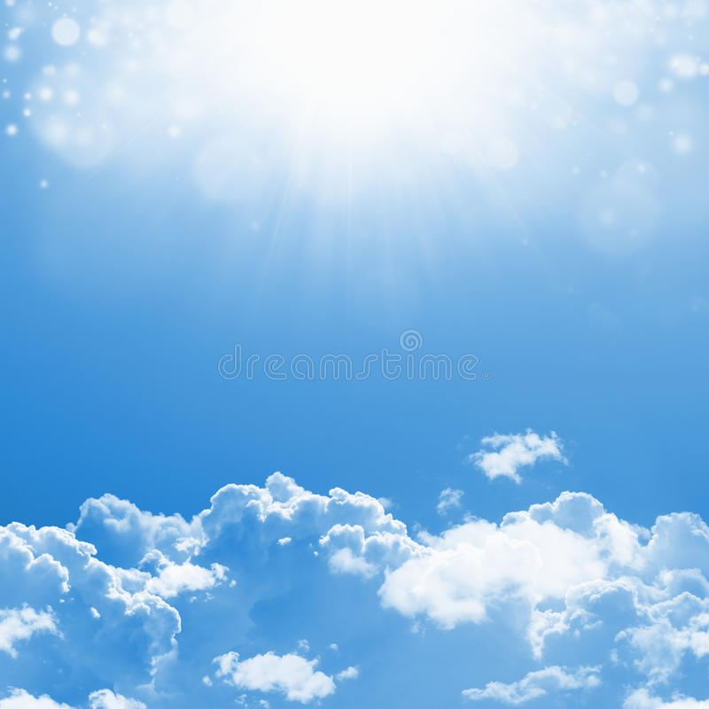 Cielos azules hermosos stock de ilustración