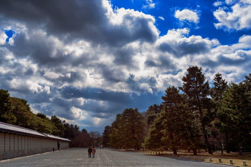Cielos brillantes sobre Kyoto imágenes de archivo libres de regalías