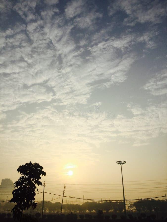 Cielos de la mañana imagenes de archivo