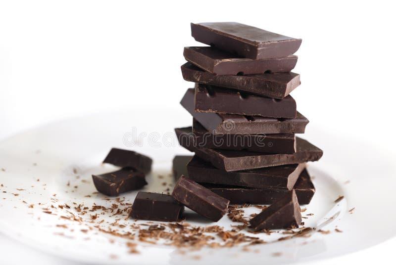 Ciemna czekolada zdjęcia royalty free