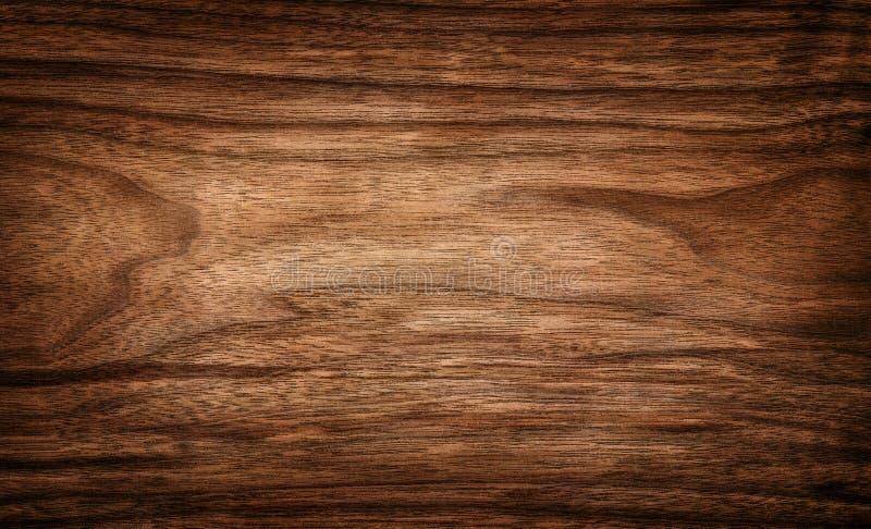 Ciemna drewniana tekstury tła powierzchnia z naturalnym wzorem fotografia stock
