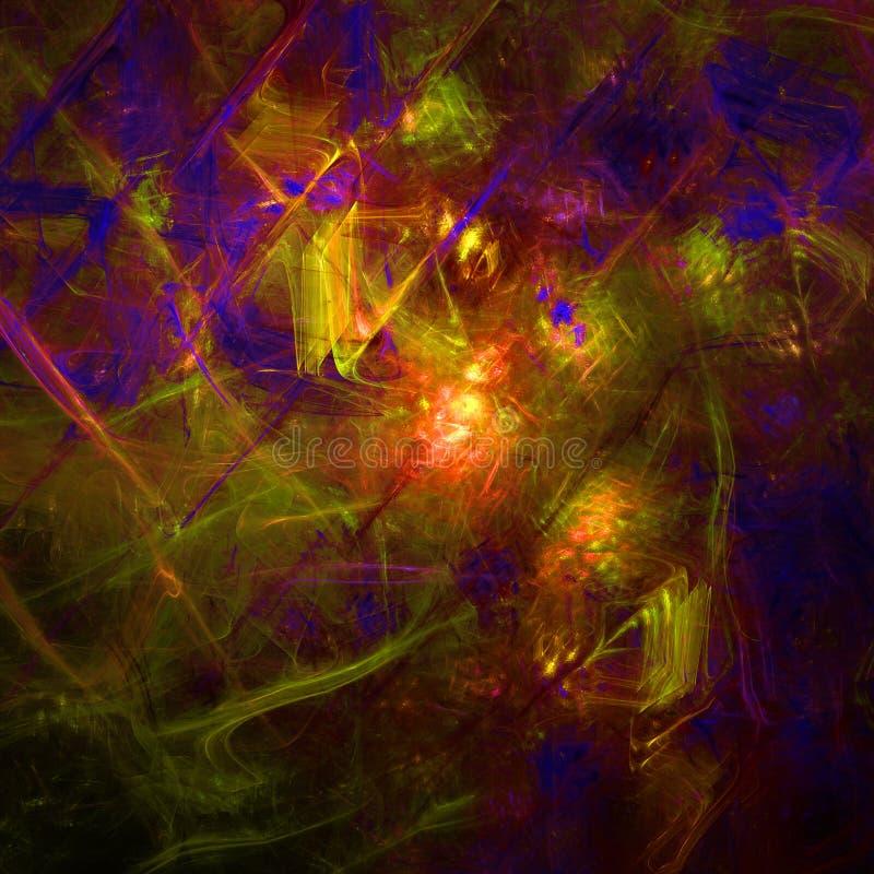 Ciemna i kolorowa abstrakcjonistyczna fractal tapeta z zdjęcia stock