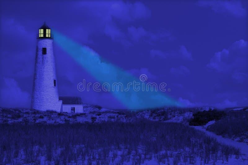 ciemna latarnia morska ilustracji