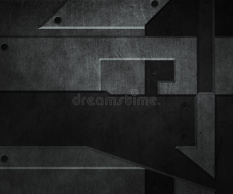 Ciemna metal tekstura ilustracji