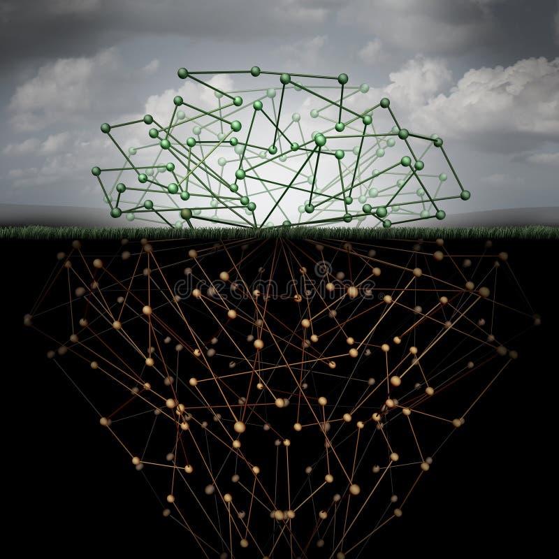 Ciemna sieć ilustracja wektor