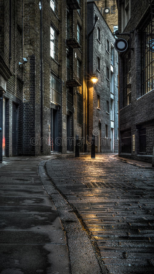 Ciemna ulica fotografia stock