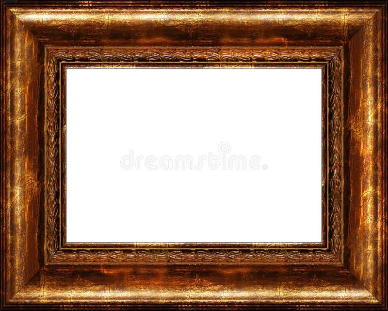 ciemne antykwarskiej ramy obrazu złoty pojedynczy wieśniak zdjęcie stock